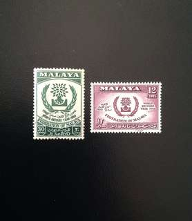 Malaya 1960 World Refugee Year 2V Used Set (0418)