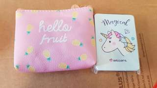Unicorn Pocket Mirror With Pouch