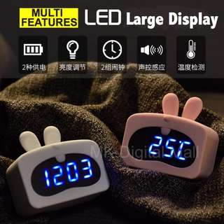 ★ NEW !! ★ Cute Animal Alarm Clocks with Large LED Display. Sound Control. Temperature Display