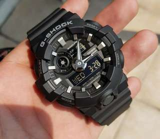 GA-700 BLACK GSHOCK WATCH