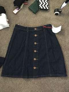 Cotton On Buttoned Denim Skirt