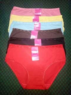 Plus size cotton spandex panty P370