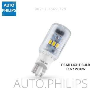 Lampu Mundur Mobil LED Philips T16 W16W ORIGINAL