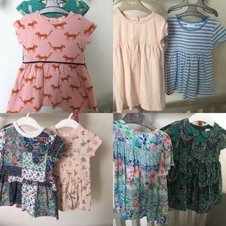 Girls dresses 8 mixed styles see pic