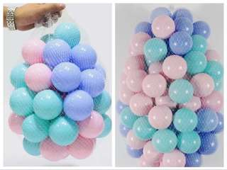 100x Macaroon Pastel Color Plastic Balls Pit Pool Save Baby Toy