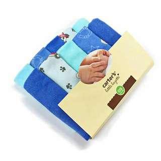 Carter's Little Layette 10pc Wash Cloth - BLUE