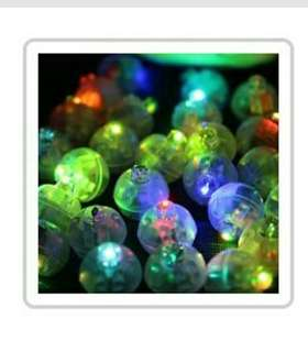 Round Mini Flash Ball Led Lights