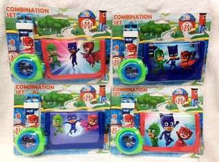 Instocks PJ Masks watch w wallet set