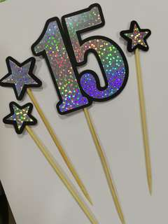 Birthday Cake Toppers Set