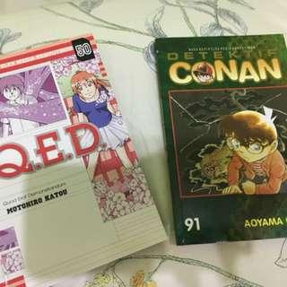 Detective Conan Vol 91 & Q.E.D vol 50