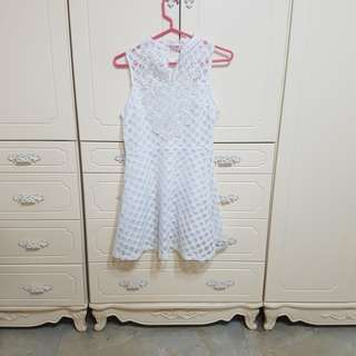 🚚 全新韓式蕾絲網狀格子洋裝