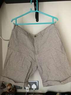 購自日本GU 布料短褲