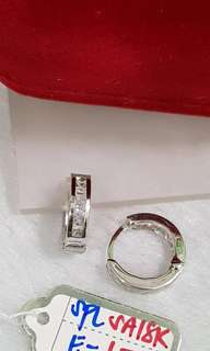 18K Saudi White Gold earring