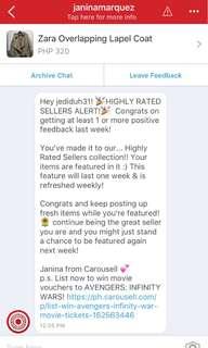 Yaaaay! Finally! Thank you Carousell Team! 🌸