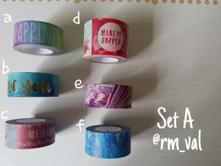 Recollections Washi Tape Samples