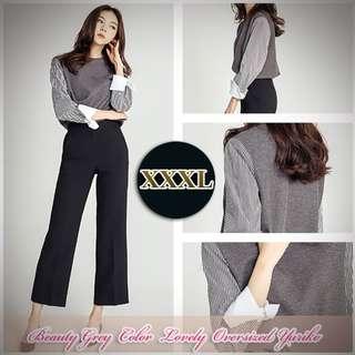 Atasan XXXL Lengan Panjang Beauty Grey Color Lovely Yuriko.