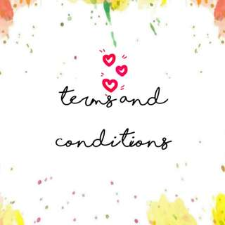 terms and conditions 🌸