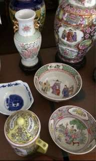 Plates bowls mugs