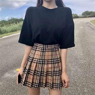 🚚 高腰百褶裙 格紋 短裙