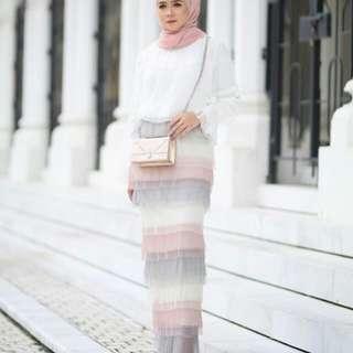 Dewi ruffle skirt