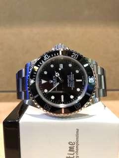 Authentic Rolex Oyster Sea Dweller 16600 Black Dial Automatic Steel Casing Bracelet