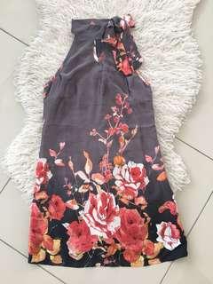 Nichii Halter Neck Floral Dress