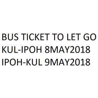 PLUSLINER RETURN BUS TICKET KL-IPOH