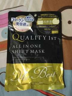 Quality First All in One Sheet Mask