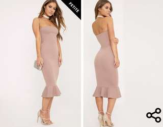 Bandeau Frill Dress
