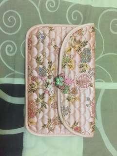 Dompet pouch pink korea