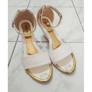 Sepatu Wedges Putih White Heels