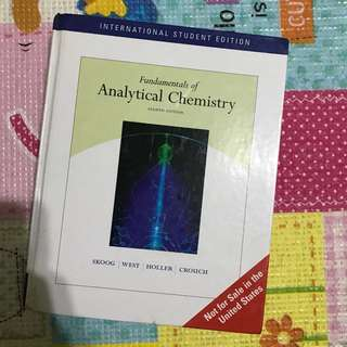Skoog | West | Holler| Crouch - Fundamentals if Analytical Chemistry (International Student Edition) 8th Edition