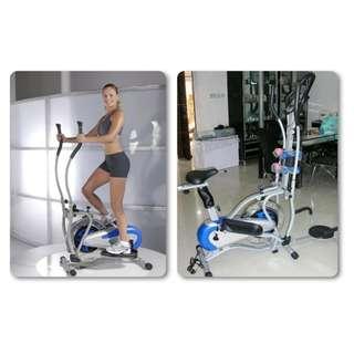 Sepeda Statis Orbitrek 5 in 1 Harga Murah - Alat Fitness Elite Plate