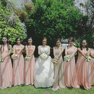 Preloved wedding gown and bridesmaid dress
