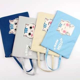 Meow Hello Canvas Tote Folder