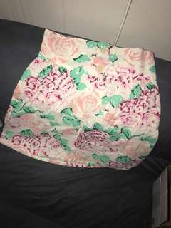 Floral size small summer skirt