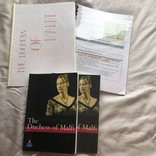 The Duchess Of Malfi - 2 Exam Approved Texts, 1 Study Guide And 1 Personal Notes