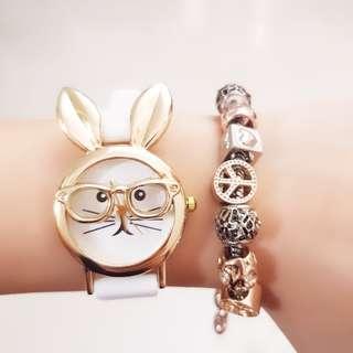 Bunny in Glasses Design Watch