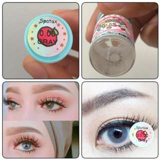 Color Contact Lenses (Spatax Gray / Lamune Gray) Solotica Dupes