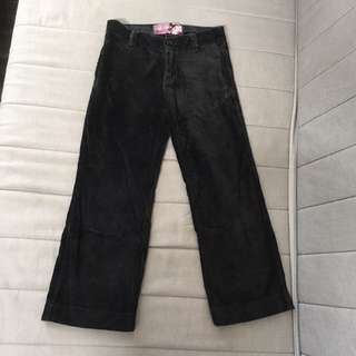 Old Navy Black Velvet Trousers