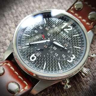 *Rare* Denissov Barracuda Chronograph with carbon fibre dial