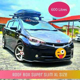 Roof Cargo Box SUPER SLIM 600L XL size