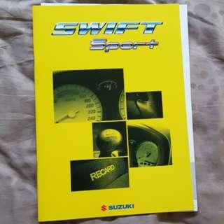 suzuki swift sport ignis jdm japanese catalog catalogue brochure equipment options recaro cultus monster specifications