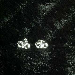 Genuine 925 Italy Silver Gem Earrings