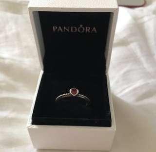 Designer limited edition Pandora Heart ring