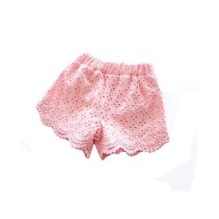 Children & Girls Leisure Lace Shorts Baby Beach Pants Trousers 2018