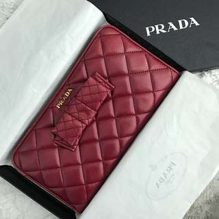 Prada bow wallet