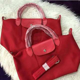 Longchamp Le Pliage Neo (Ruby Red)