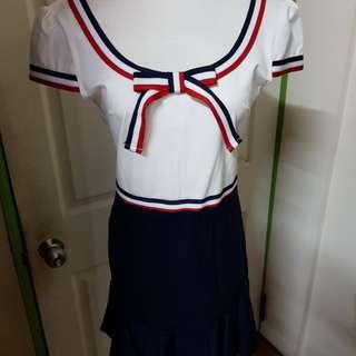 🚚 學院風魚尾裙洋裝