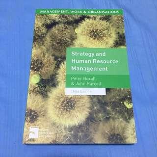 Strategy And Human Resource Management By Peter Boxall And John Purcell
